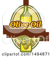 Clipart Of An Olive Oil Design Royalty Free Vector Illustration