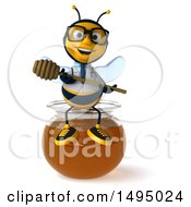3d Male Doctor Bee On A White Background