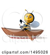 3d Male Bee On A White Background