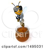 Poster, Art Print Of 3d Male Business Bee On A White Background