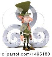 3d Skinny Leprechaun On A White Background