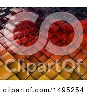 Clipart Of A 3d Abstract Background Of Towers Royalty Free Illustration