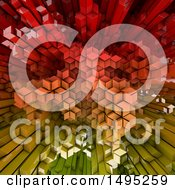 Clipart Of A 3d Aerial City Background Royalty Free Illustration