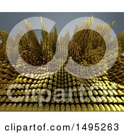 Clipart Of A 3d Abstract Wave Background Royalty Free Illustration