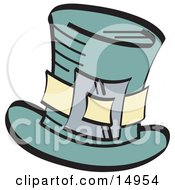 Leprechauns Green Tophat With A Buckle Clipart Illustration