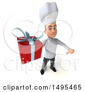Poster, Art Print Of 3d Young White Male Chef On A White Background