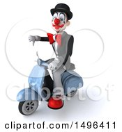 3d White And Black Clown On A White Background