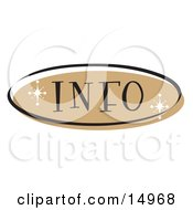 Brown Info Website Button That Could Link To An Information Page On A Site Clipart Illustration