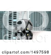 Clipart Of A 3d Futuristic Car In A City Royalty Free Illustration by Julos