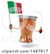 Poster, Art Print Of 3d Beer Mug Character On A White Background
