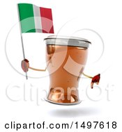 Clipart Of A 3d Beer Mug Character On A White Background Royalty Free Illustration