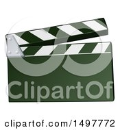 Clipart Of A Clapper Board Royalty Free Vector Illustration by AtStockIllustration