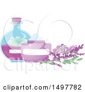 Natural Cosmetics Containers With Flowers