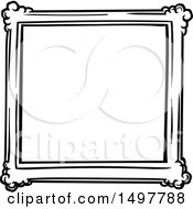 Clipart Of A Sketched Frame Design Element Royalty Free Vector Illustration