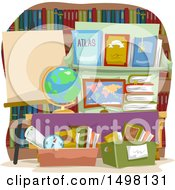 Poster, Art Print Of Display With Geography Books For Sale