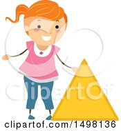 Girl With A Shape Of A Triangle Circle
