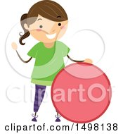 Clipart Of A Girl With A Shape Of A Circle Royalty Free Vector Illustration by BNP Design Studio
