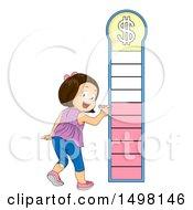 Girl Marking A Financial Goal Chart