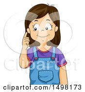 October 12th, 2017: Clipart Of A Girl Pointing To Her Ear Royalty Free Vector Illustration by BNP Design Studio