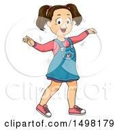 October 12th, 2017: Clipart Of A Girl Wiggling Or Dancing Royalty Free Vector Illustration by BNP Design Studio