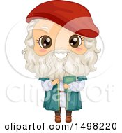 Clipart Of A Boy In A DaVinci Costume Royalty Free Vector Illustration by BNP Design Studio