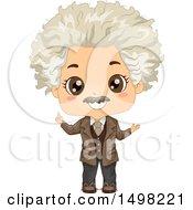 Boy In An Albert Einstein Costume