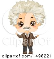 Clipart Of A Boy In An Albert Einstein Costume Royalty Free Vector Illustration