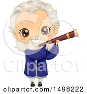 Clipart Of A Boy In A Galileo Galilei Costume Royalty Free Vector Illustration