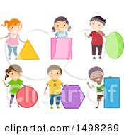 October 12th, 2017: Clipart Of Children With Shapes Royalty Free Vector Illustration by BNP Design Studio