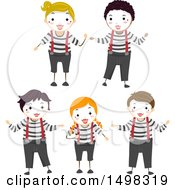 Poster, Art Print Of Boys And Girls In A Mime Pose
