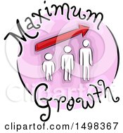 Person In Stages On A Maximum Growth Icon