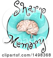 Clipart Of A Brain On A Sharm Memory Icon Royalty Free Vector Illustration