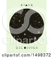 Clipart Of A Big Dipper Constellation Royalty Free Vector Illustration by BNP Design Studio