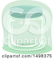 Clipart Of A Glass Jar Royalty Free Vector Illustration by BNP Design Studio