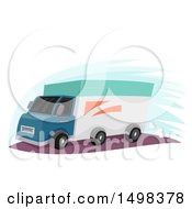Clipart Of A Delivery Truck Royalty Free Vector Illustration by BNP Design Studio