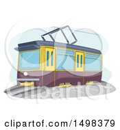Clipart Of A Tram Royalty Free Vector Illustration