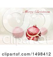 Merry Christmas And Happy Holidays Greeting Over Baubles