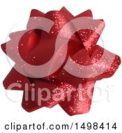 Clipart Of A Red Gift Bow Royalty Free Vector Illustration by dero