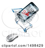 Poster, Art Print Of Black Friday Sale Advertisement On A Smart Phone Screen In An Online Shopping Cart