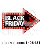 Clipart Of A Black Friday Sale Arrow Marquee Sign Royalty Free Vector Illustration by AtStockIllustration