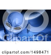 Clipart Of A 3d Evil Alien Royalty Free Illustration