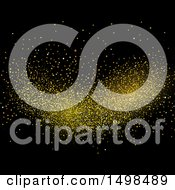 October 14th, 2017: Clipart Of Gold Glitter On Black Royalty Free Vector Illustration by KJ Pargeter