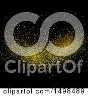 Clipart Of Gold Glitter On Black Royalty Free Vector Illustration