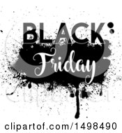 Clipart Of A Grungy Black Friday Design Royalty Free Vector Illustration