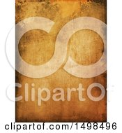 Clipart Of A Dark Aged Paper Texture Background Royalty Free Illustration