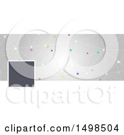 Clipart Of A Network Social Media Cover Banner Design Element Royalty Free Vector Illustration