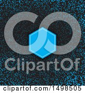 Frame On A Blue And Black Halftone Dot Background