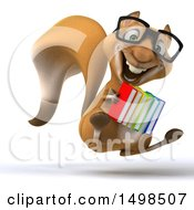 October 14th, 2017: Clipart Of A 3d Squirrel Holding Books On A White Background Royalty Free Illustration by Julos