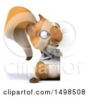 Poster, Art Print Of 3d Doctor Or Veterinarian Squirrel On A White Background