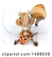October 14th, 2017: Clipart Of A 3d Squirrel Playing A Guitar On A White Background Royalty Free Illustration by Julos